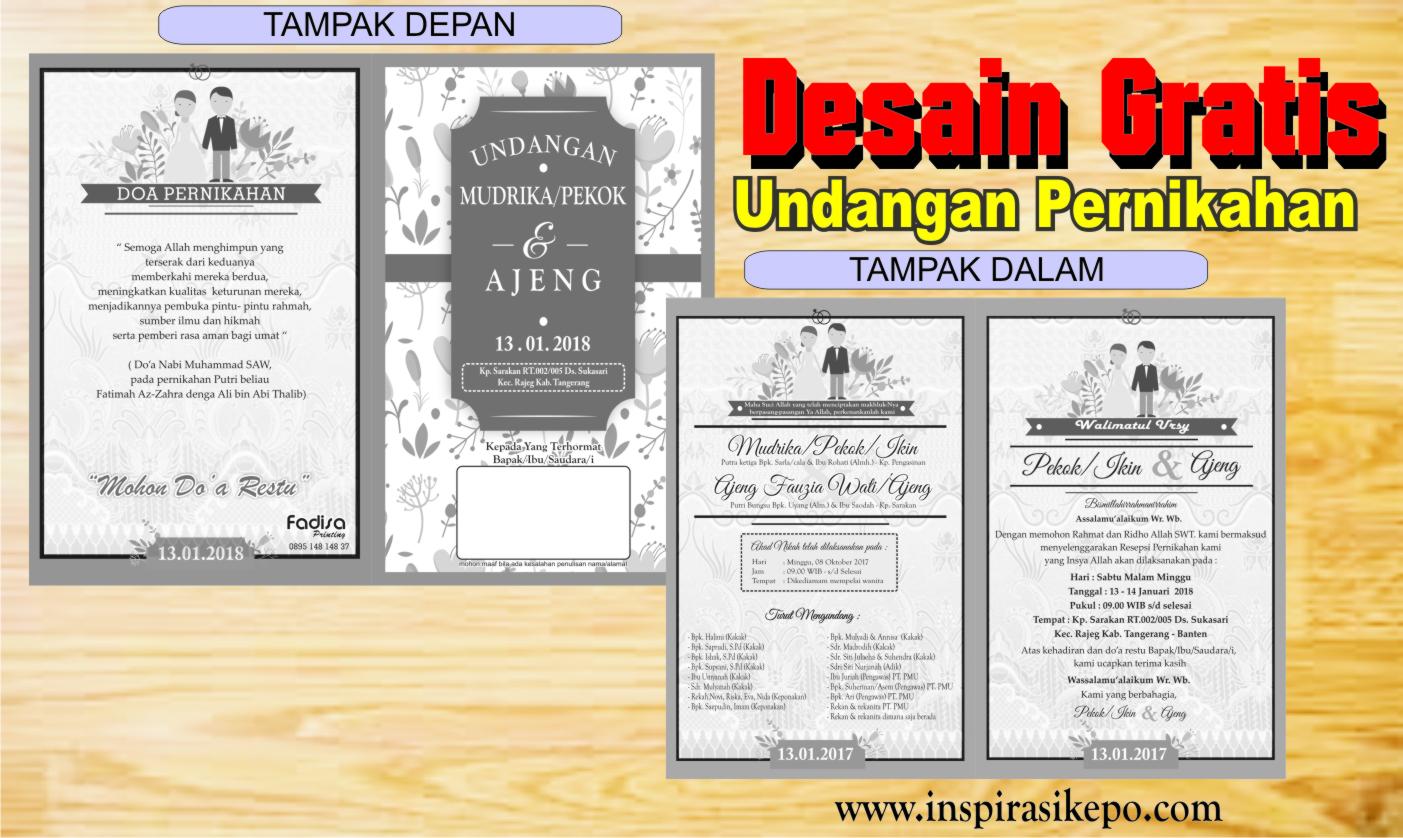 5000 Gambar Desain Undangan Pernikahan Minimalis Cdr HD Paling Keren Untuk Di Contoh