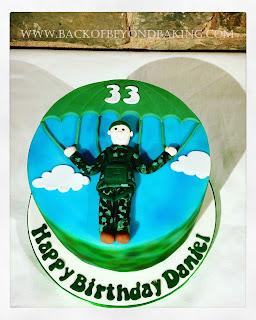 parachuting cake