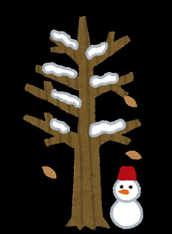 冬の木のイラスト かわいいフリー素材集 いらすとや