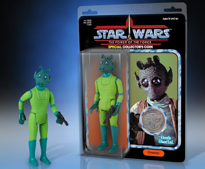 "Star Wars Power of the Force Greedo 12"" Jumbo Vintage Kenner Action Figure by Gentle Giant"