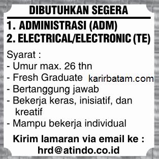 Lowongan Kerja PT. Atindo Indonesia