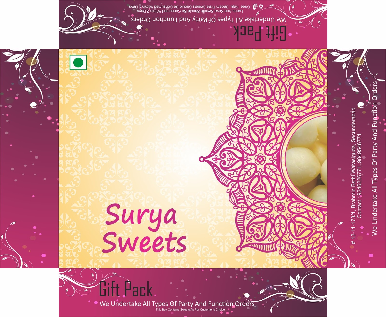 Sweet Box Design - Harshini Creative Graphics