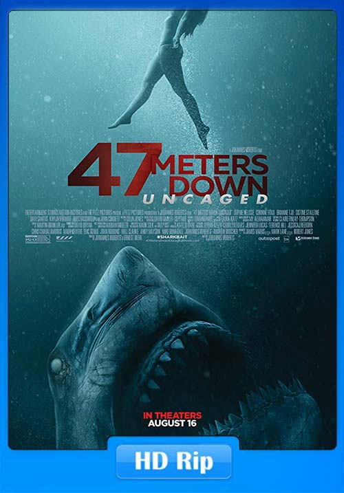 47 Meters Down Uncaged 2019 English HDRip 720p x264 | 480p 300MB | 100MB HEVC Poster