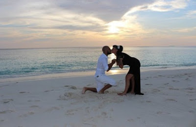 Vicky Fallon and Abz Love share photos from engagement in the Maldives