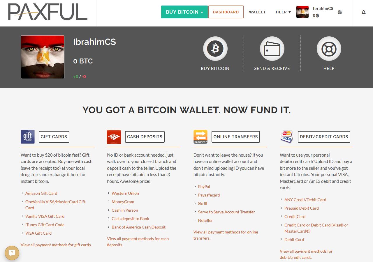 كيفية شراء وبيع البتكوين باستخدام الفيزا , شراء البتكوين, بيع البتكوين, Paxful.com ,Buy and Sell Bitcoin