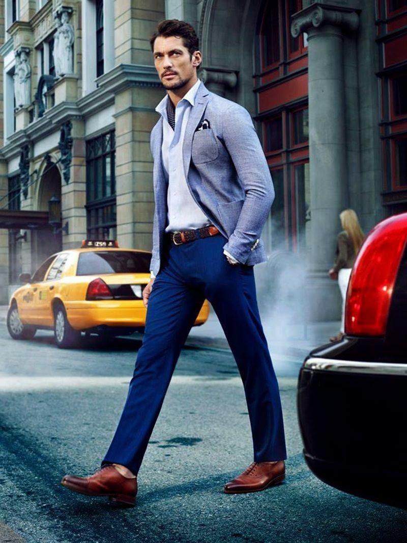 elige el más nuevo donde puedo comprar moda atractiva Como Combinar Pantalon Azul Rey Hombre - #1 jersey hombre