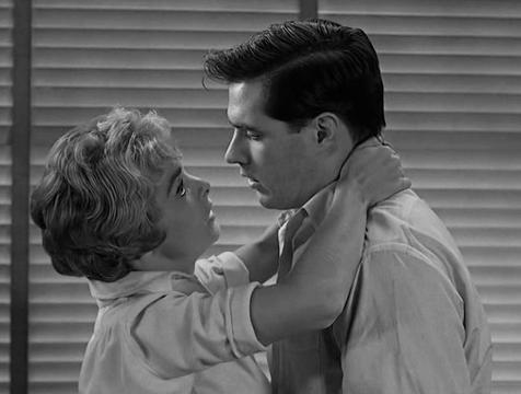 Marion Crane (Janet Leigh) y Sam Loomis (John Gavin) en Psicosis - Cine de Escritor