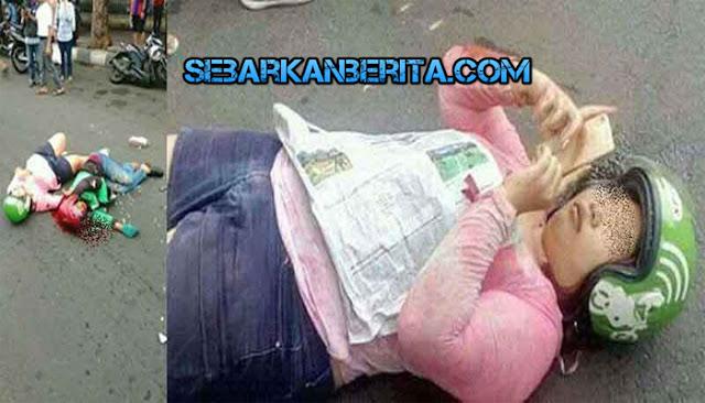Wanita Ini Terkapar Usai Alami Kecelakaan Sambil Pegang HP, Netizen : selfie, update status atau minta bantuan?