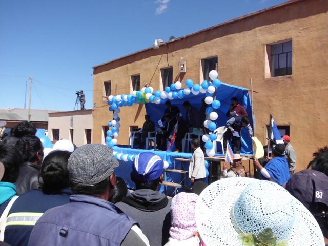 Der Präsident in San Pablo de Lipez