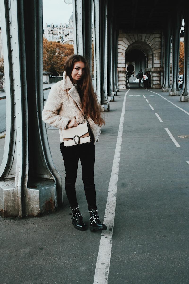 blouson mouton paris octobre 2017 blog mode influenceur