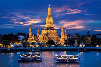 Wat Arun as the Buddha Temple of Dawn in Thailand