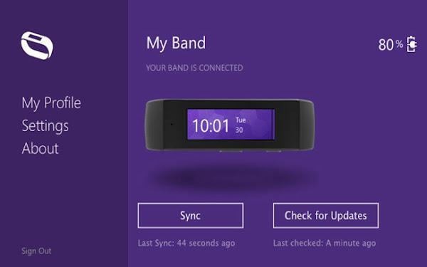 Microsoft Band Sync app