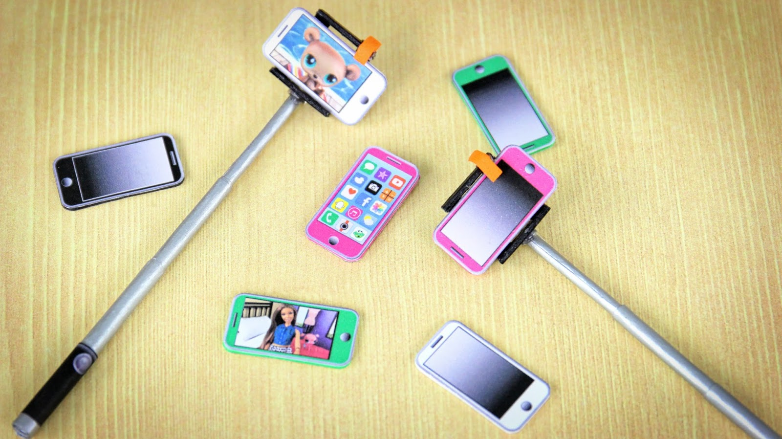 Selfie How To Make A Doll Stick And Printable Cell Phone