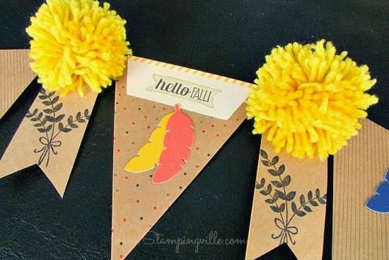 DIY fall banner idea with Stampin' Up! Paper Pumpkin #papercrafts #StampinUp #paperpumpkin