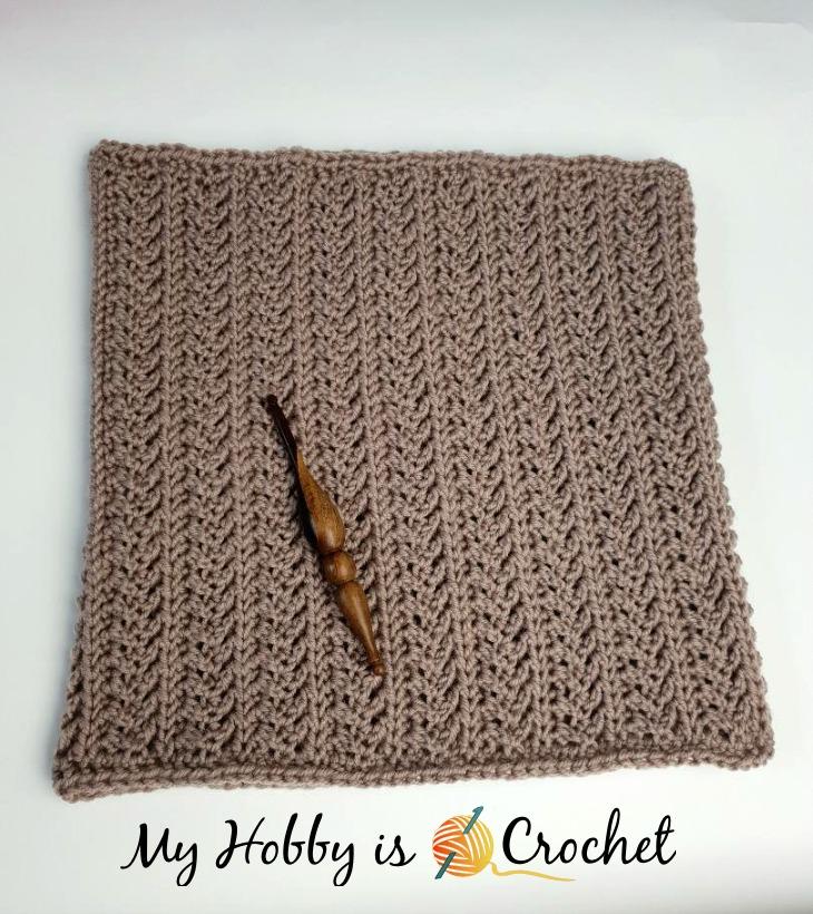 Chic Aran Cowl - Free Crochet Pattern