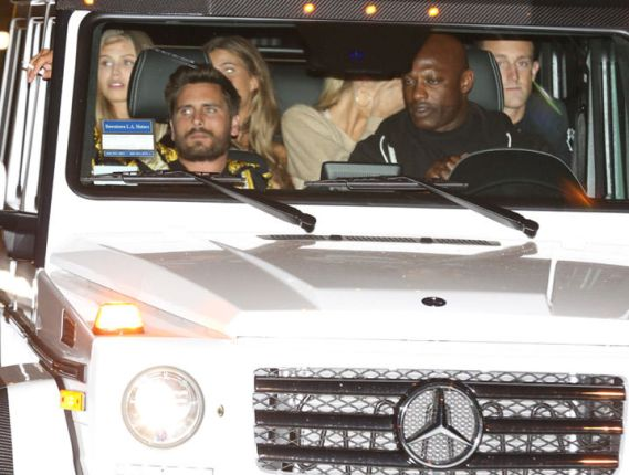 Scott Disick spotted with a bunch of girls in his car