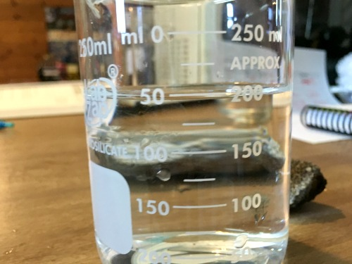 Volume of water