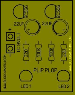 Membuat Rangkaian LED Plip Plop yang sangat Mudah