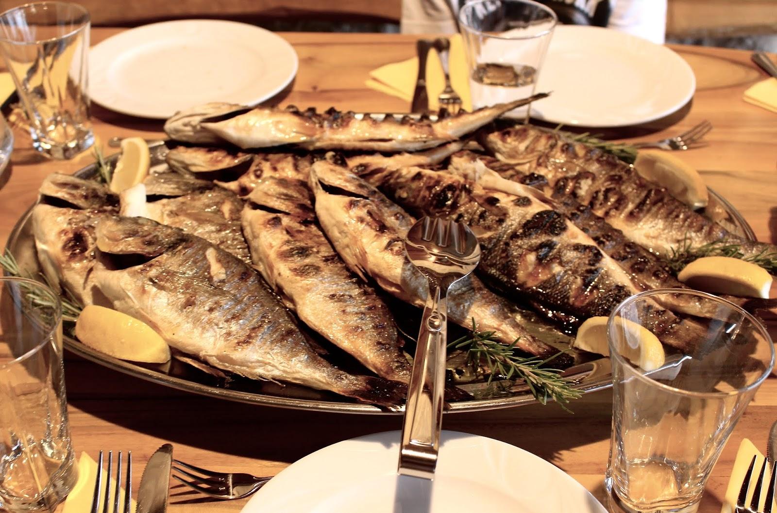 Dalmatinische Fischplatte - so frisch war nie ein Fisch!