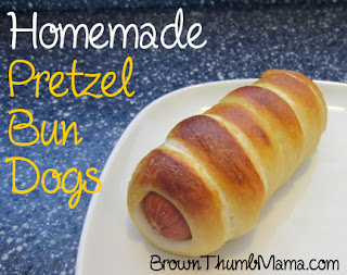 Homemade pretzel bun dogs, pretzel bun dog recipe, better than Weinerschnitzel