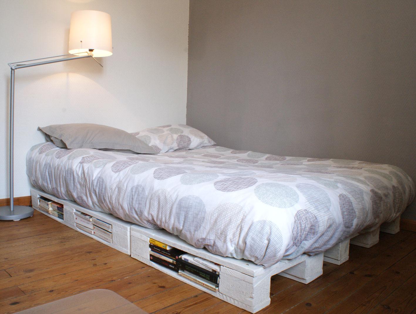 un cadre de lit base de palettes mademoiselle je sais tout. Black Bedroom Furniture Sets. Home Design Ideas