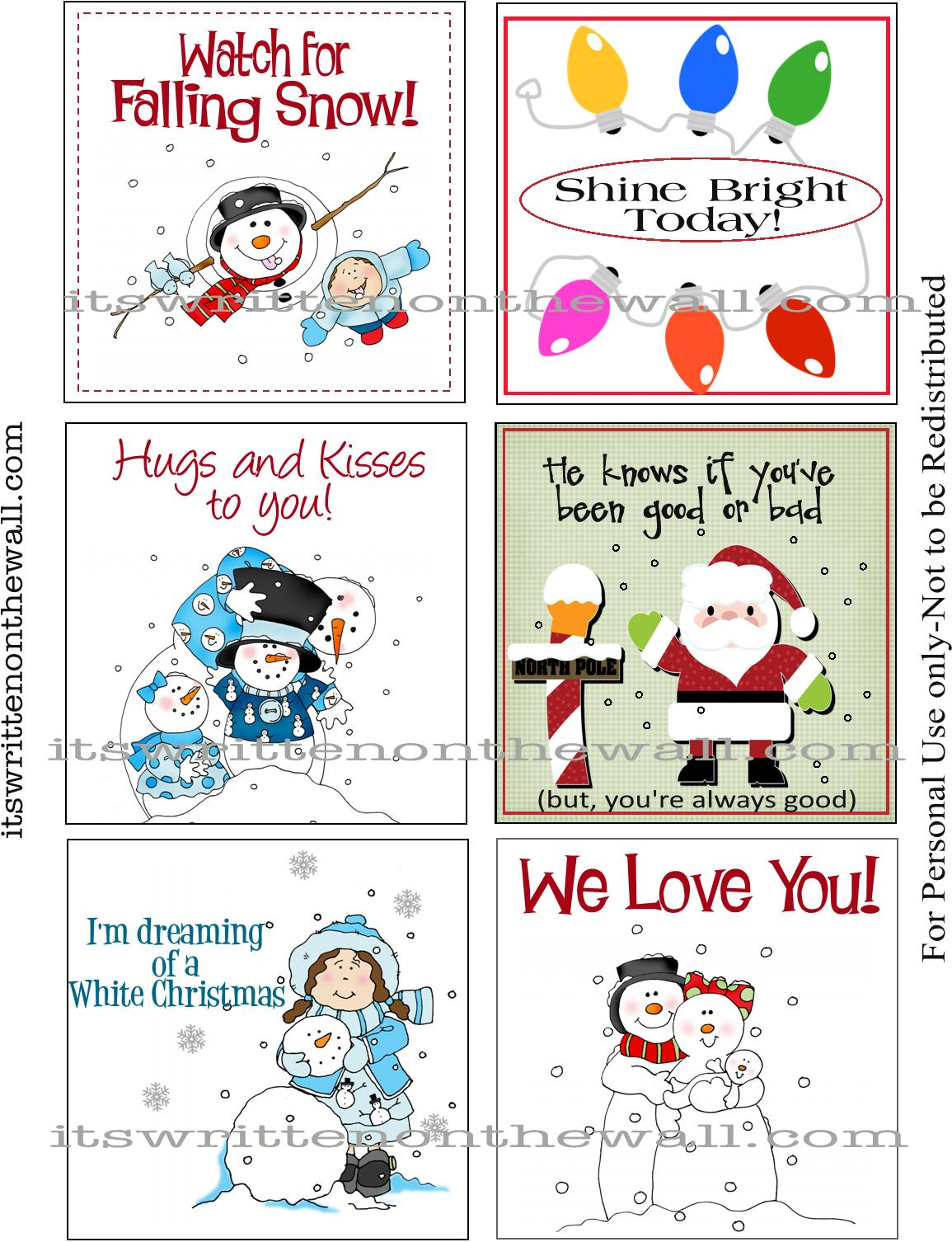 FREE Christmas Lunchbox Notes  Funny Jokes & Sweet ... |Christmas Lunch Box Notes