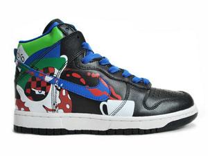 new photos 1bec4 0b919 Bad Hatter Nikes Alice In Wonderland Nike Dunks Black Green Blue