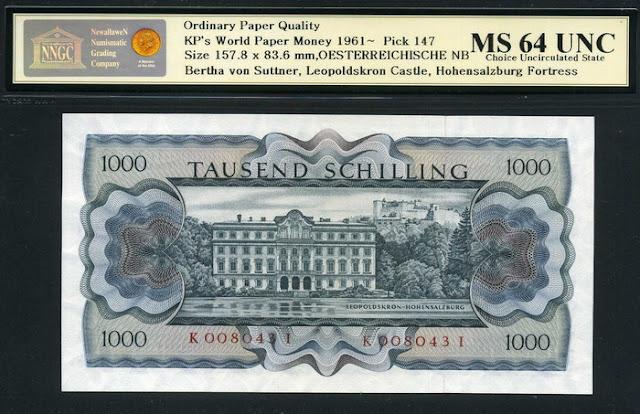 World Paper Money Austrian Schilling euro banknote