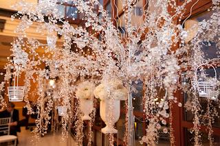 Silver, Black and White Wedding   CelebrateandDecorate.com