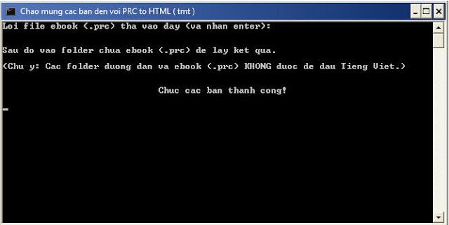 Convert PRC to HTML