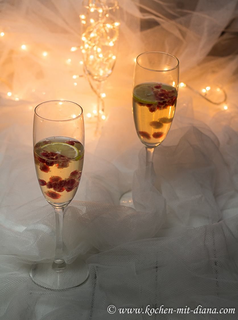 Granatapfel-Prosecco-Cocktail