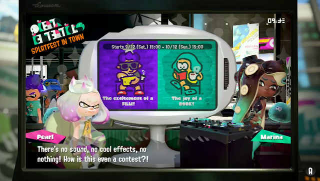 Splatoon 2 Splatfest Film vs. Book Pearl movies books have no sound effects