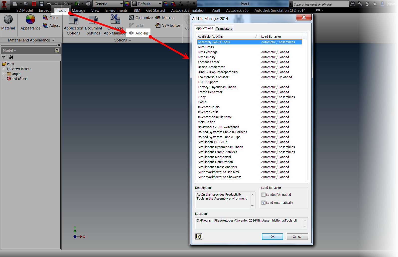 Autodesk Vault Ribbon Disappears when Starting a Component