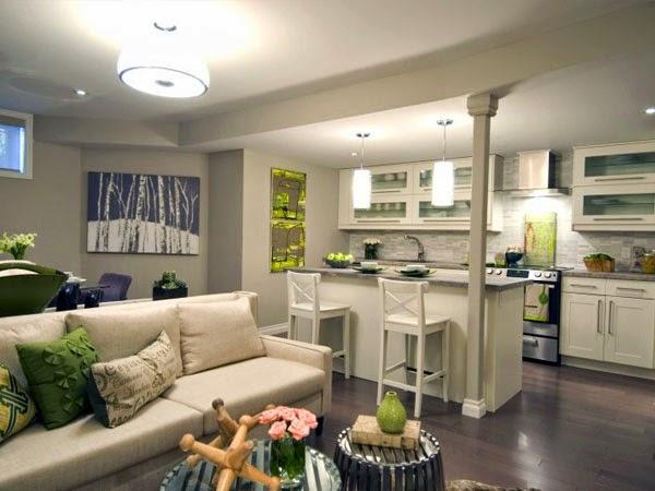 salas con cocina americana colores en casa