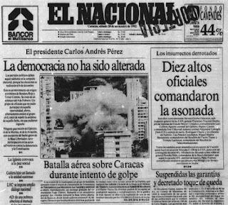 Efemérides Venezolanas del Mes de Noviembre. Efemérides de Venezuela. Tal dia como hoy en la Historia. Hoy en la Historia