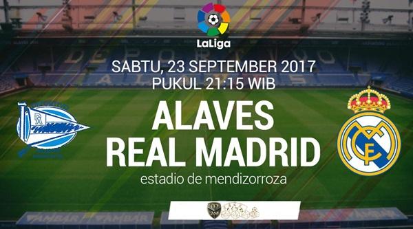 Prediksi Bola : Deportivo Alaves Vs Real Madrid , Sabtu 23 September 2017 Pukul 21.15 WIB