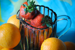 Strawberry and oranges