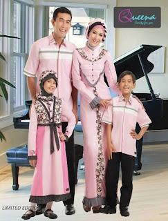 Contoh desain baju sarimbit simpel kombinasi batik
