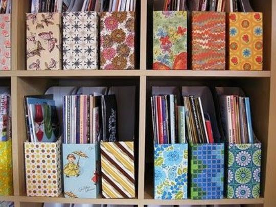 estantes organizar revistas
