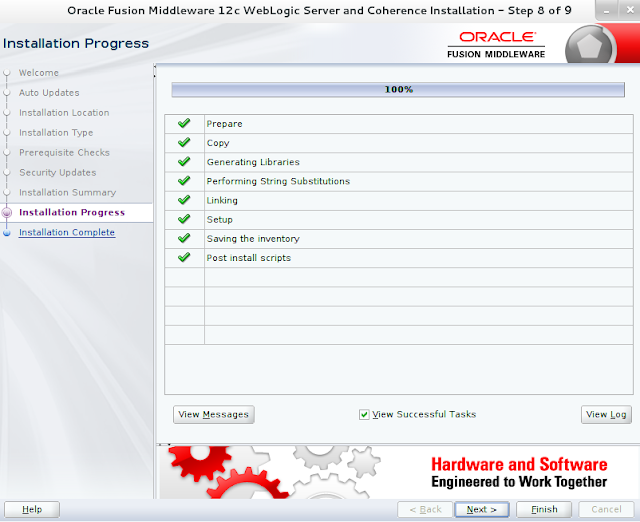 Weblogic Server Installation wizard screen 8