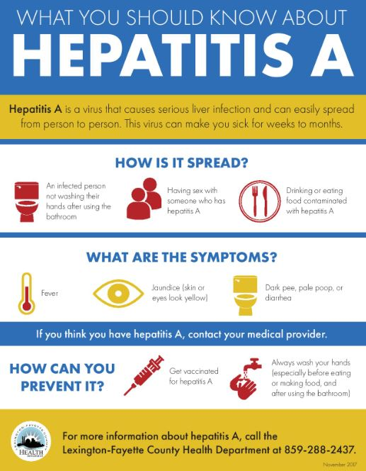 In The Current Outbreak There Have Been No Confirmed Cases Of Hepatitis A Being Transmitted By Food Service Workers Kentucky Primary Risk Factors