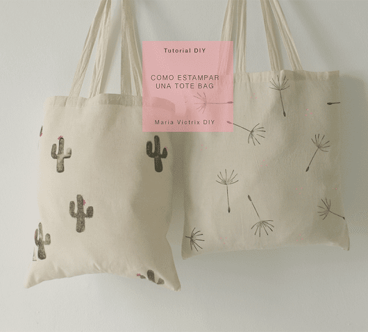 Tutorial DIY: Cómo estampar una tote bag