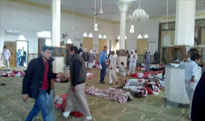 The victims inside the Mosque