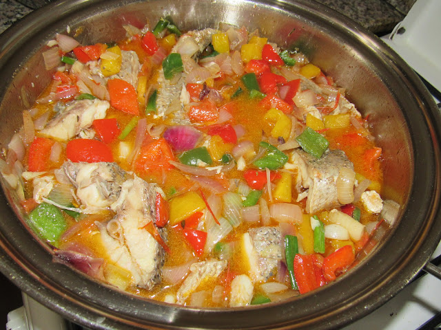 Wives connection nigerian food recipes fresh fish stew with vegetables caribbean stewed fish altered for my nigerian palate forumfinder Images