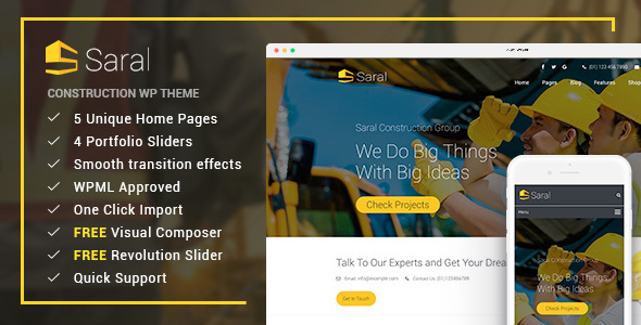 Saral Construction WordPress Theme