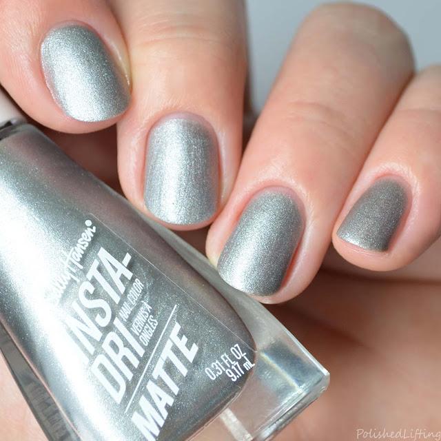 matte silver metallic nail polish