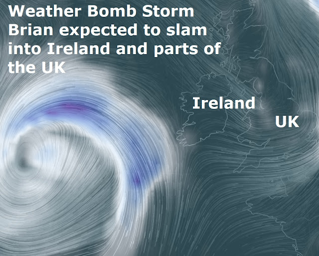 """Brian"" expected to smash into Ireland and parts of the UK Naamloos"