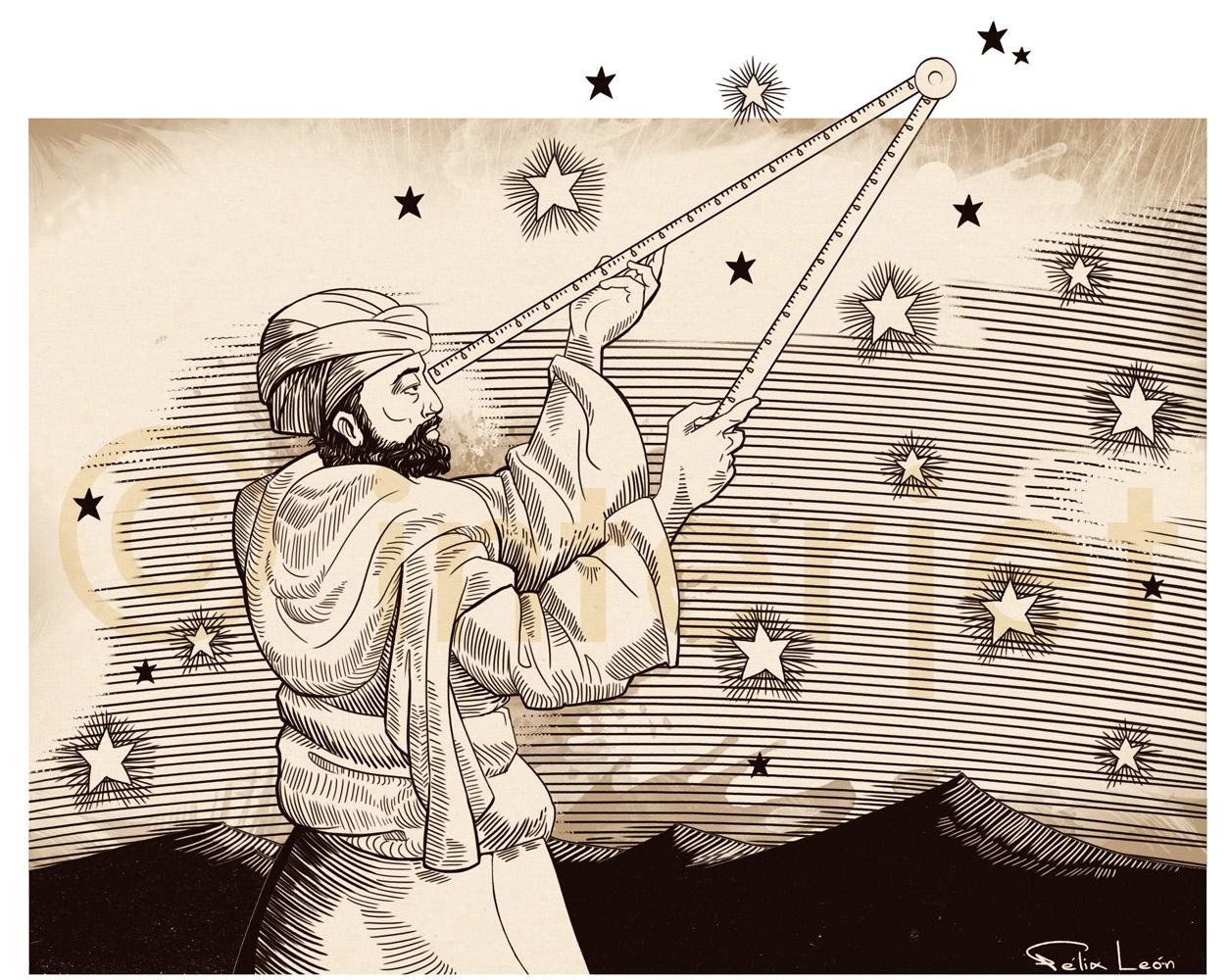 عبد الرحمن الصوفي هو أبو الحسين عبد الرحمن بن عمر الصوفي أحد أشهر الفلكيين والمهندسين المسلمين من الفرس عالم فلك مسلم من ال Sufi Constellations Humanoid Sketch