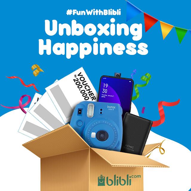 #Blibli - #Promo FunWithBlibli & Unboxing Happiness Dapatkan OPPO F11 Pro ,dll (s.d 30 April 2019)