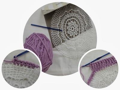 Mantel Individual de un Tapete y Crochet